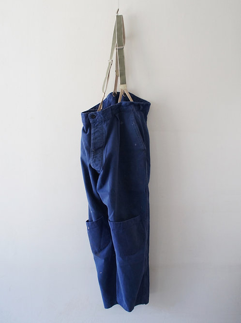 """1970's """"French Military"""" Work pants & suspender"""
