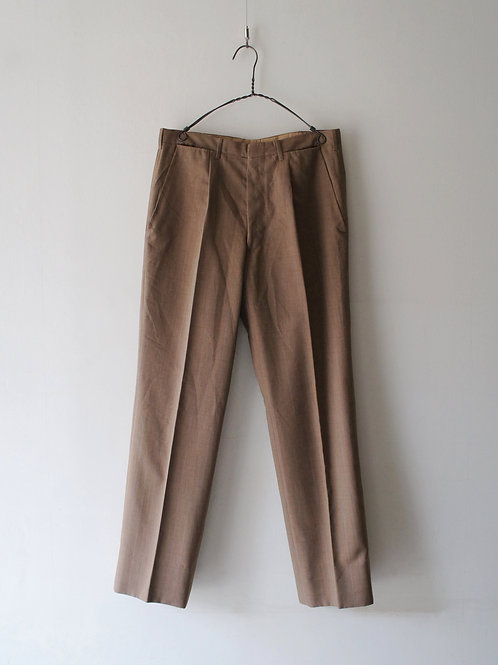 1960-70's Italy summer wool check trousers