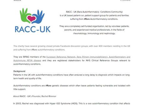 RACC - UK receives charity status