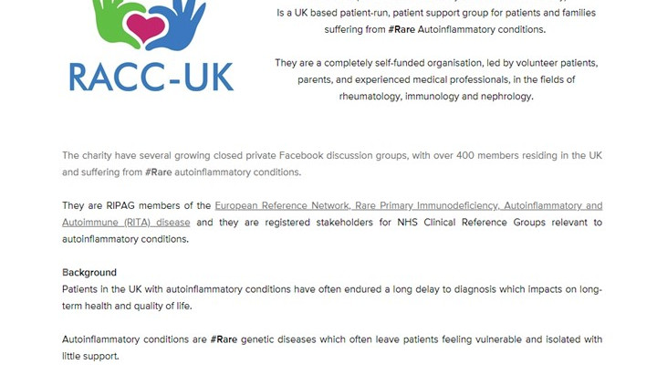 RACC - UK receives charity status