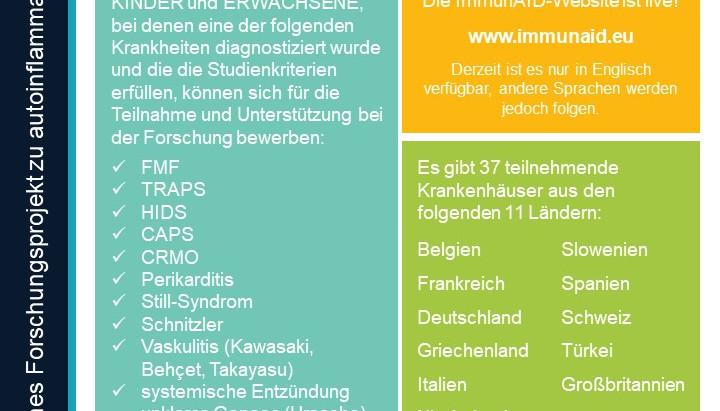 ImmunAID 1. Offizielle Mitteilung