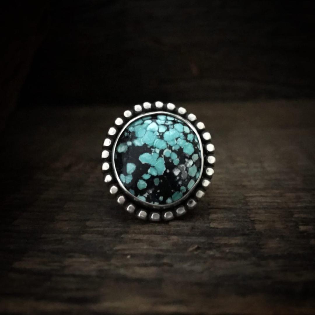 Turquoise Sunburst Ring