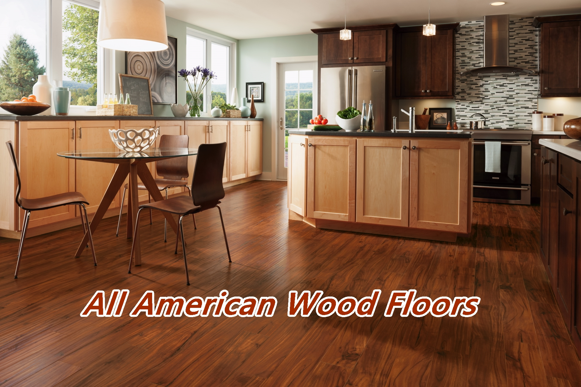 Wood Floor In The Kitchen All American Wood Floors Orlando Winter Park Melbourne Hardwood