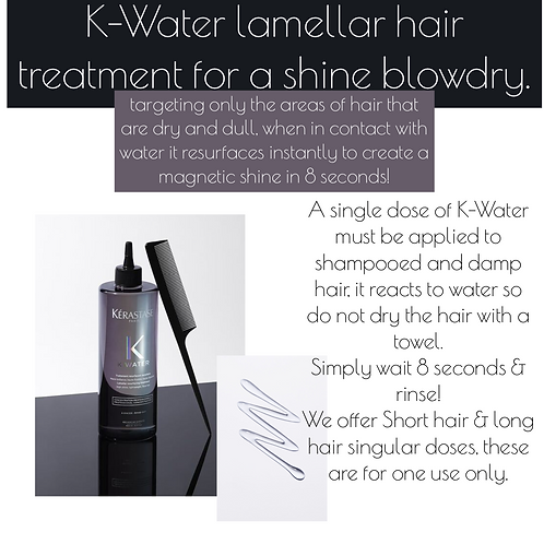 K-Water single dosage for one treatment