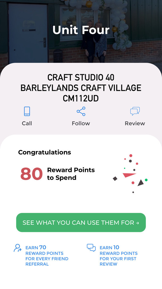 Leave a review or recommend a friend to earn more points