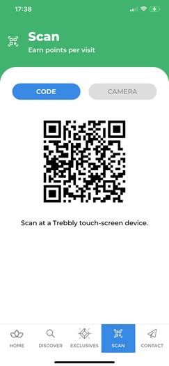 Find your Barcode & Scan at reception in salon