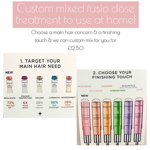 4 pack supply of custom mix Fusio-dose ( Save £10)