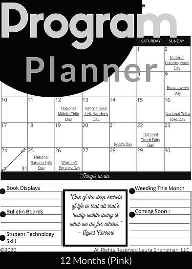 Program Planner (Black and White)