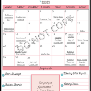Program Planning for March