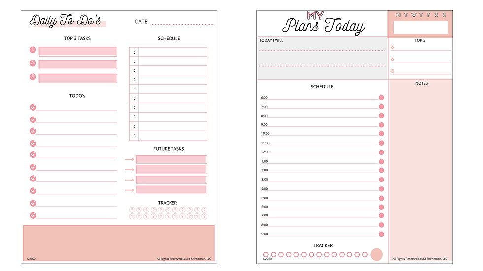 Daily Layouts (Pink)