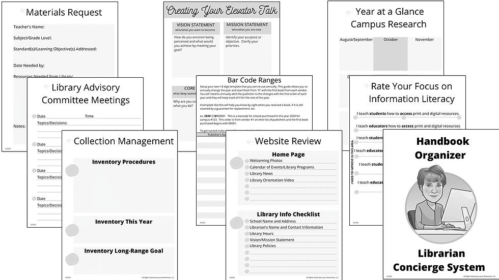 Handbook Organizer (Black and White)