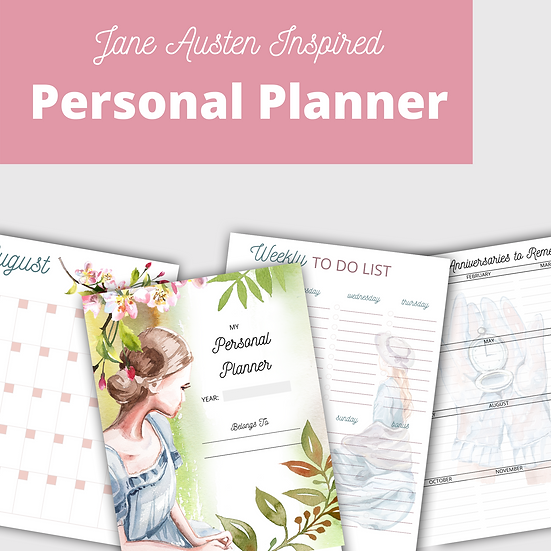Jane Austen Inspired Personal Planner- Build Your Own Planner