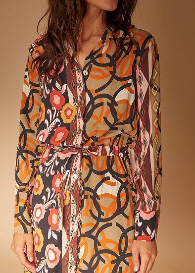 Robe imprimée vintage FC5408 La Fée Maraboutée