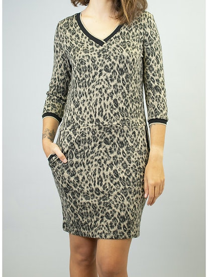 Robe imprimé léopard FC5140 La Fée Maraboutée