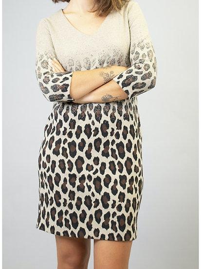 Robe motif léopard FC5145 La Fée Maraboutée