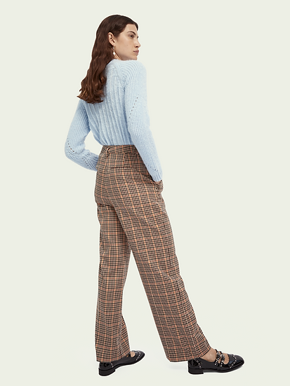 Pantalon large à carreaux Scotch & Soda 159063