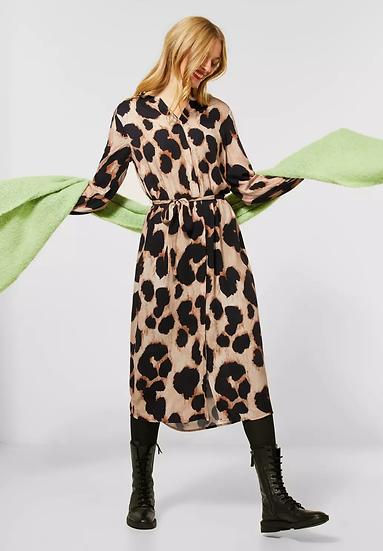 Robe mi-longue avec motif léopard Street One