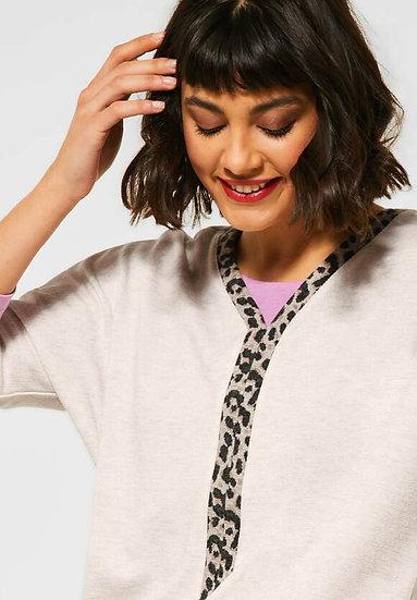 T-shirt avec bande de léopard Street One 315746