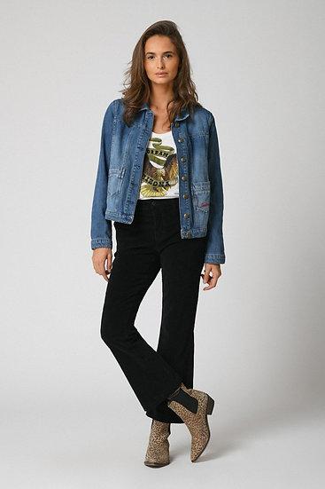 Pantalon flare en velours 304LARA Five Jeans