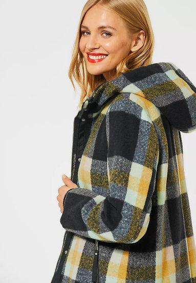 Manteau avec motif à carreaux Street One