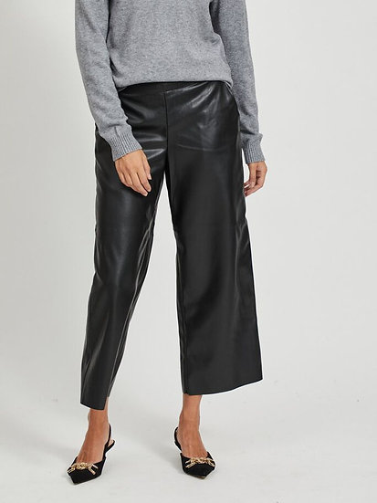 Pantalon large simili Vipen VILA