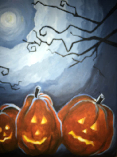 October 23, Friday, Glow in the Dark Pumpkins, 6:30