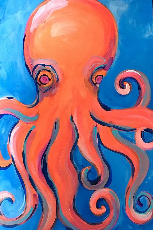 Octopus Wood Panel