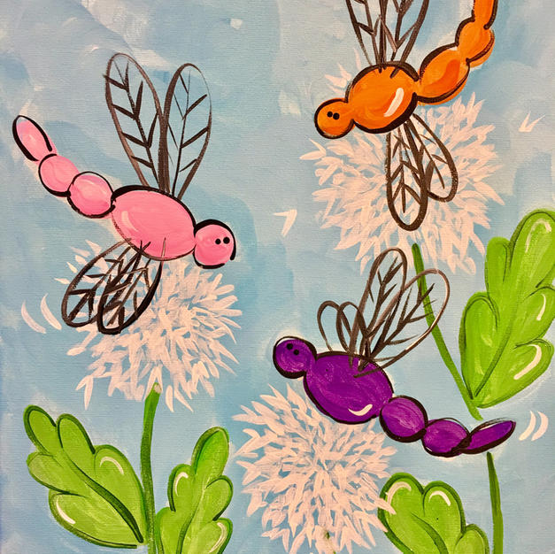 Dragonflies with Dandilions