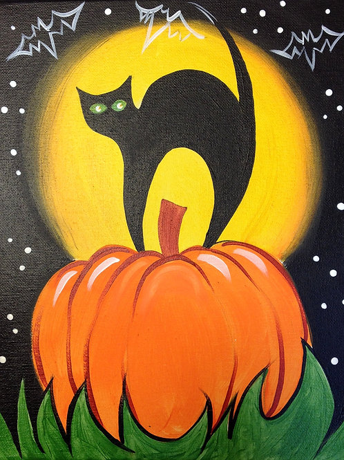 October 12, Saturday, Black Cat Pumpkin, 10:00