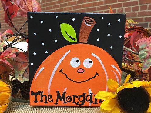 "Personalized 6"" pumpkin canvas"