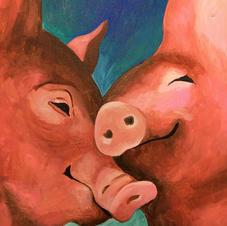 Pig Love Canvas