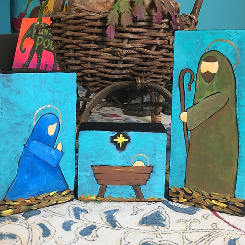 December 1, Tuesday, Wood Block Nativity, 6:30-8:30pm