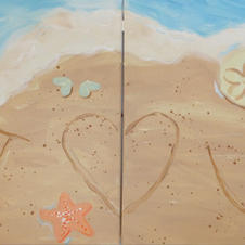 Beach Date Night (2 canvases)