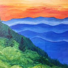 Blue Ridge Mountains Canvas
