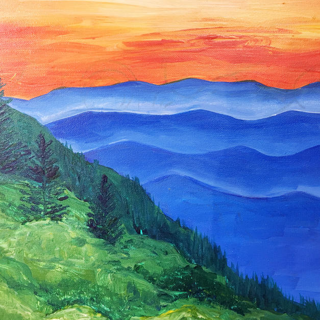 Blue Ridge Mountains Canvas