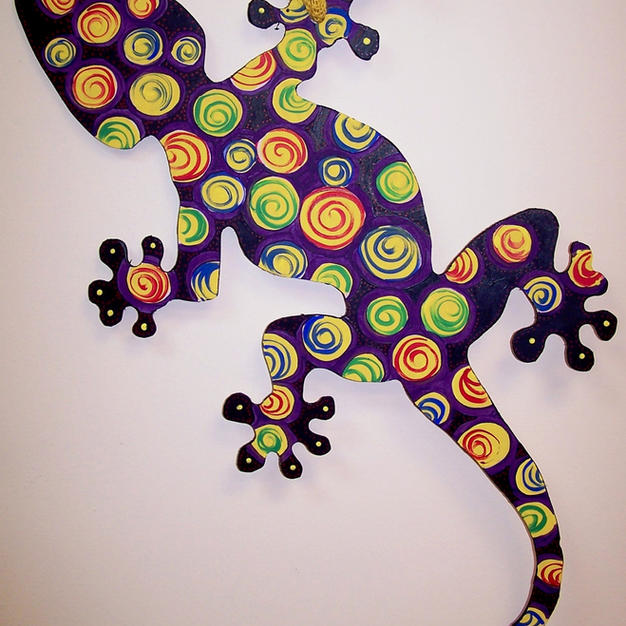 #108 Gecko Wood Cutout