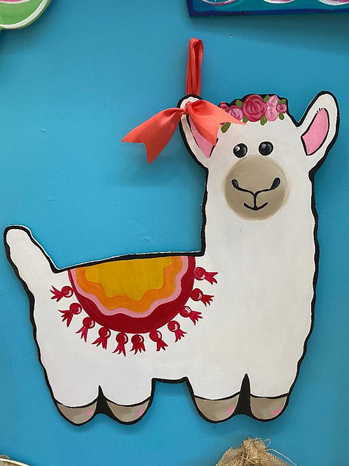 August 12, Wednesday, Llama Wood Cutout Sale, 2:00