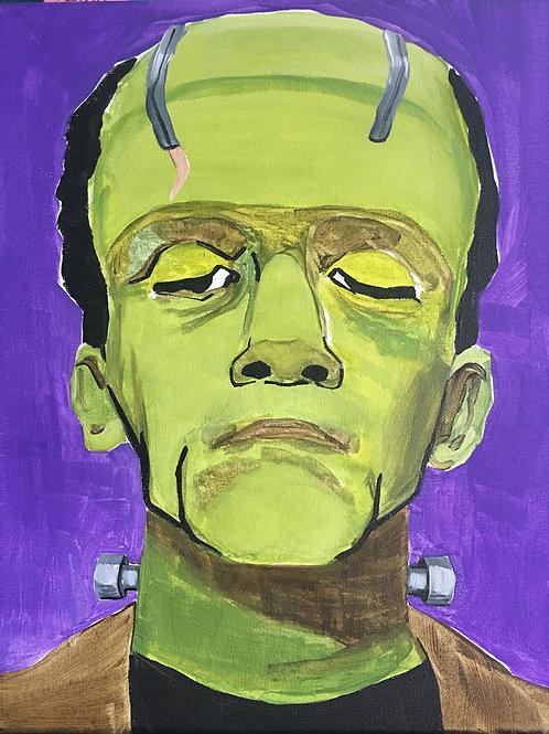 September 24, Thursday, Frankenstein canvas painting, 10:00am