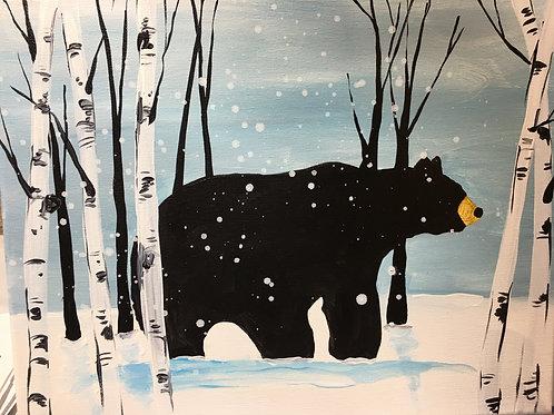 January 6, Monday, Snowy Bear, 6:30