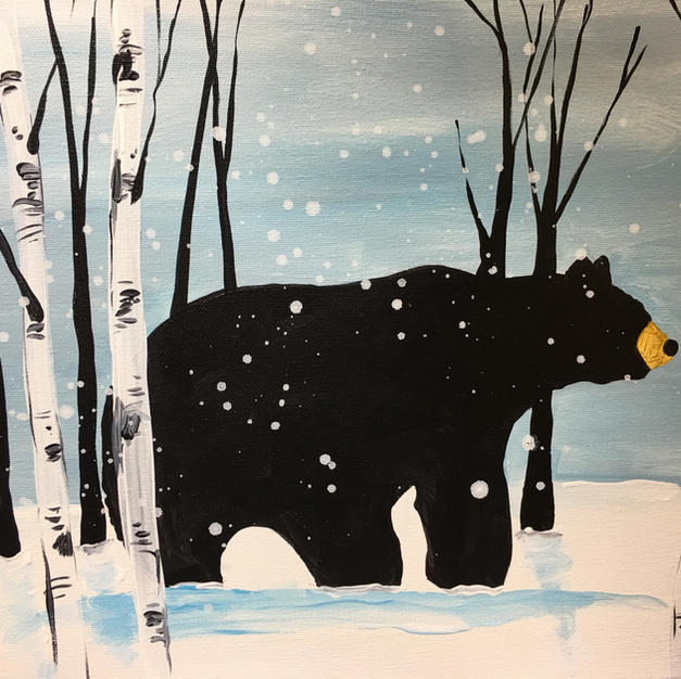 Snowy Bear Canvas