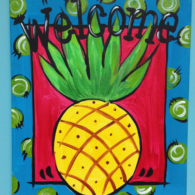 Welcome Pineapple Canvas