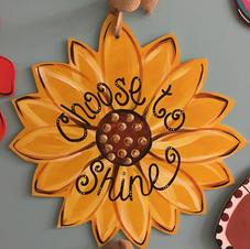 #110 Sunflower Wood Cutout