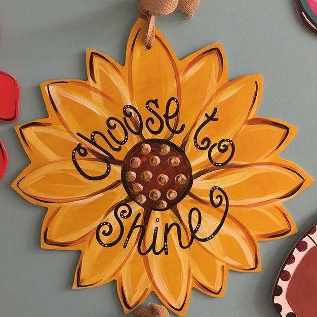 110 Sunflower (can put monogram in center)