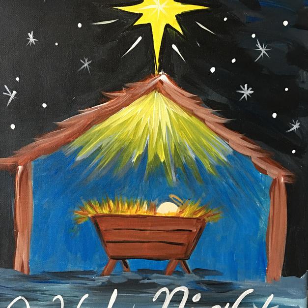O Holy Night Nativity Canvas