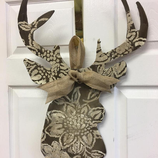 #86 Deer Head Wood Cutout