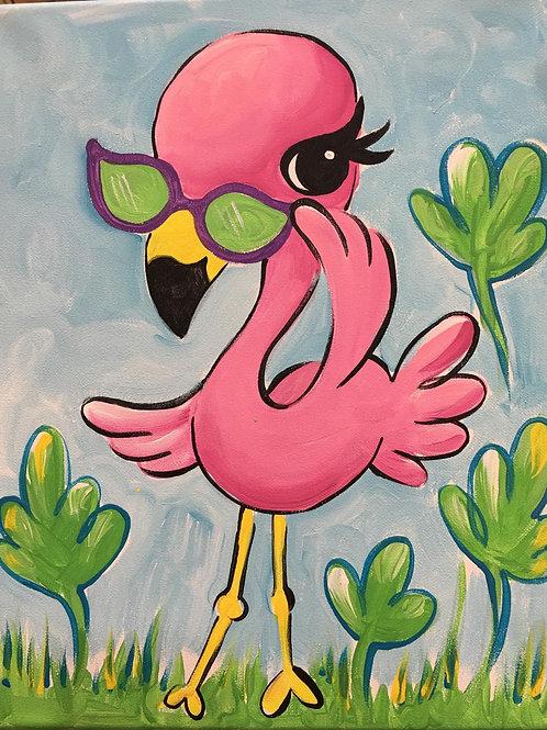 March 4, Wednesday, Flirty Flamingo, 3:00