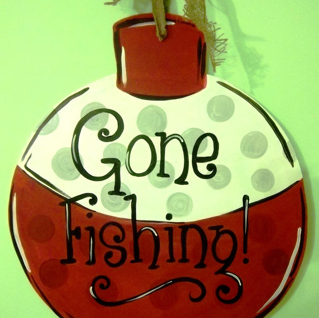 #54 Fishing Bobber Wood Cutout