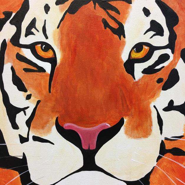 Tiger Face Canvas