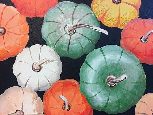 September 17, Thursday, Lots o pumpkins, 6:30