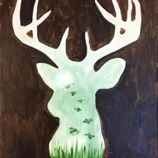 Deer Silhouette Canvas